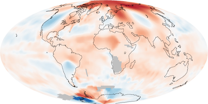 Global Temperature Anomalies, May 2010