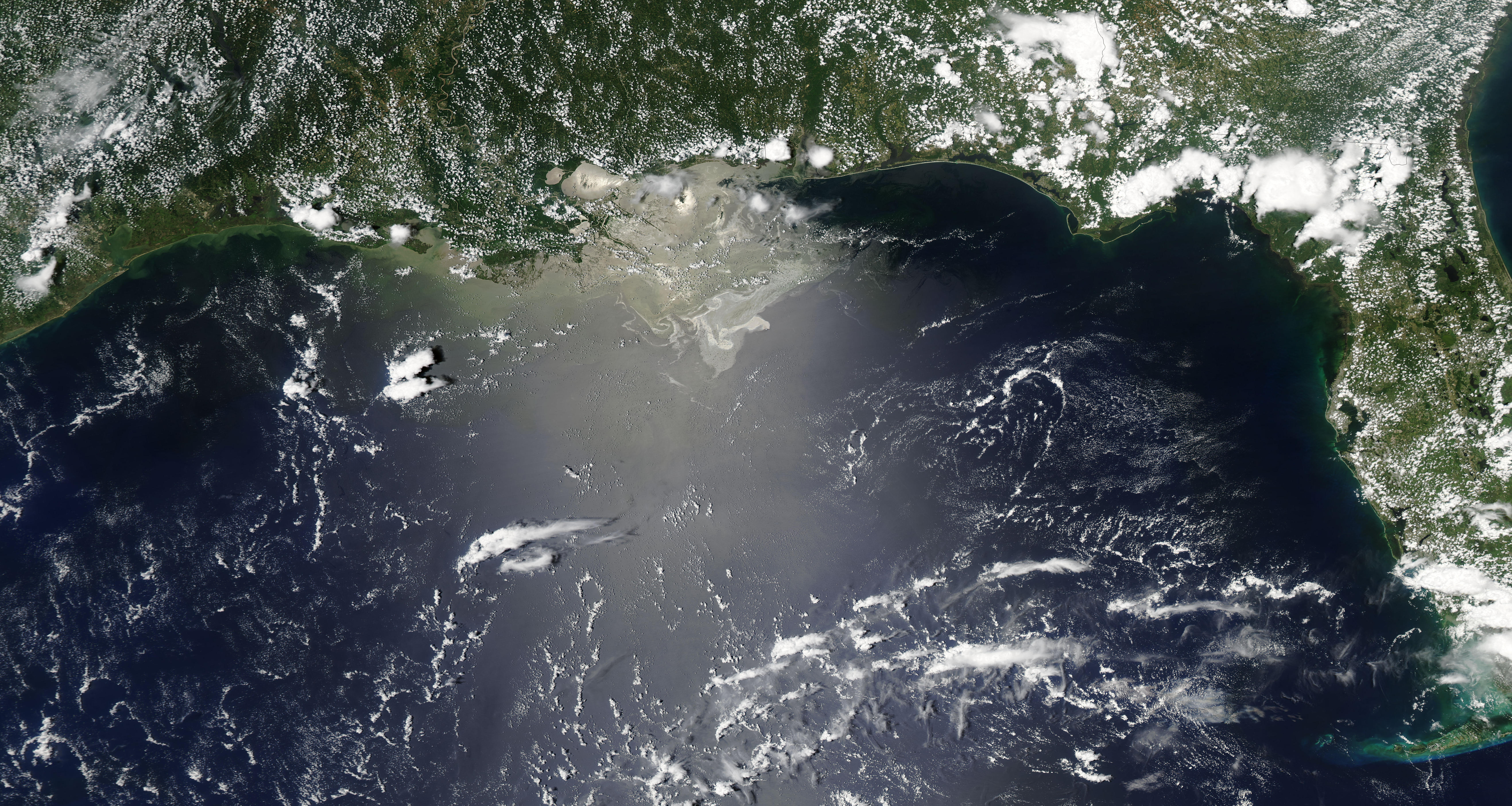 Nasa Visible Earth Oil Slick In The Gulf Of Mexico
