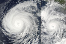 Hurricanes Celia and Darby