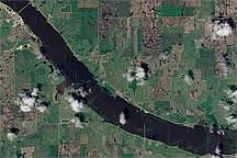 Flooding on the James River, South Dakota