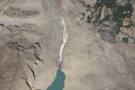 Landslide Lake on Hunza River Overflows into Spillway