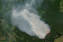Fires in Western Russia