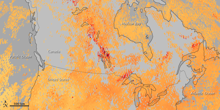 Carbon Monoxide Levels Trace Spread of Smoke Across Canada - related image preview
