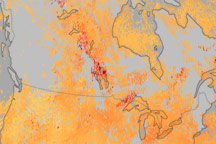 Carbon Monoxide Levels Trace Spread of Smoke Across Canada - selected image