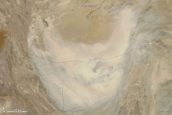 Dust Storm over Southern Afghanistan