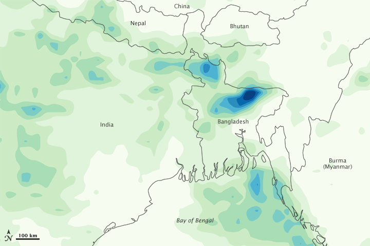 Heavy Rain in Bangladesh and India