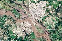 Flooding around Anahuac, Mexico