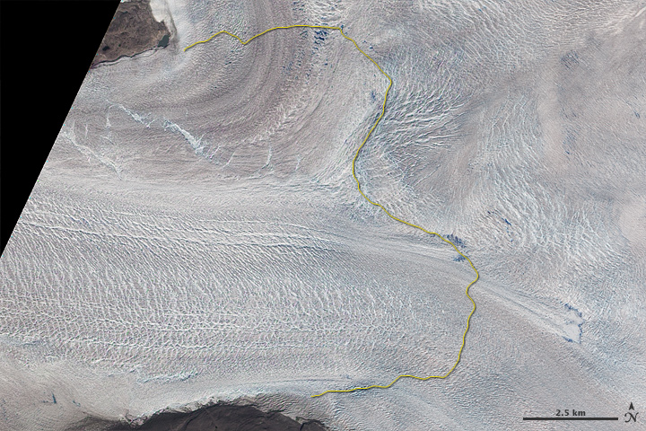 Jakobshavn Glacier Retreat
