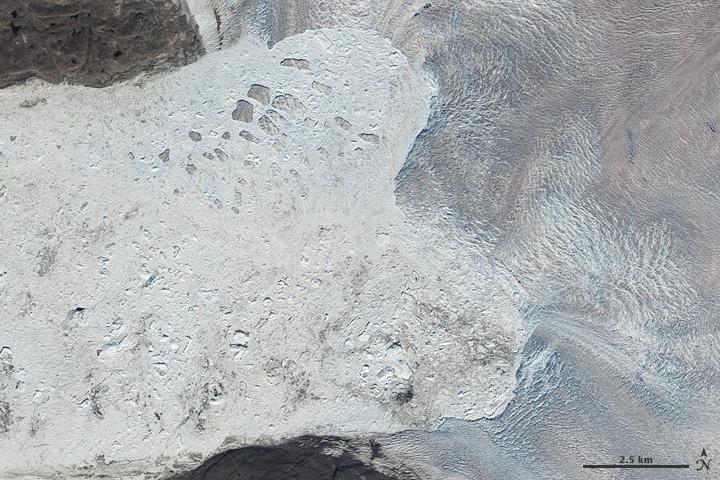 Jakobshavn Glacier Retreat