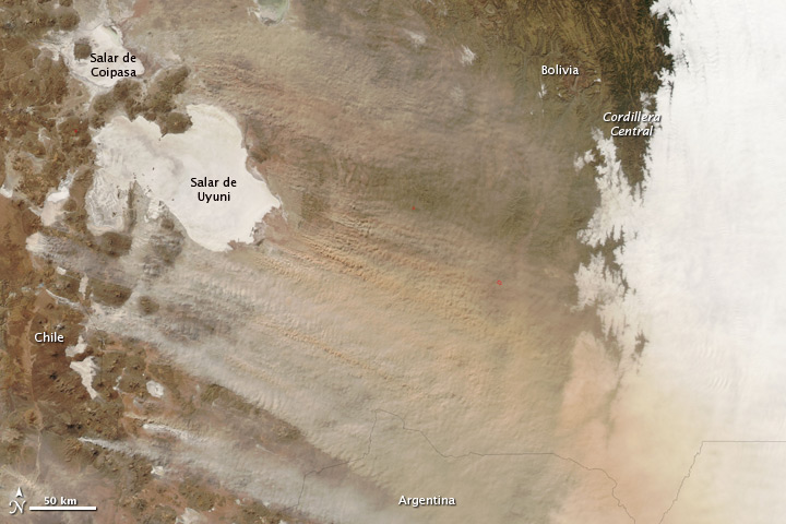 Dust Storm over Bolivia