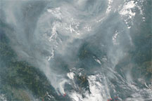 Fires and Smoke near Moscow