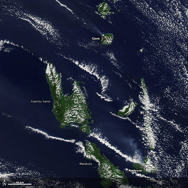 Plumes from Gaua and Ambrym Volcanoes