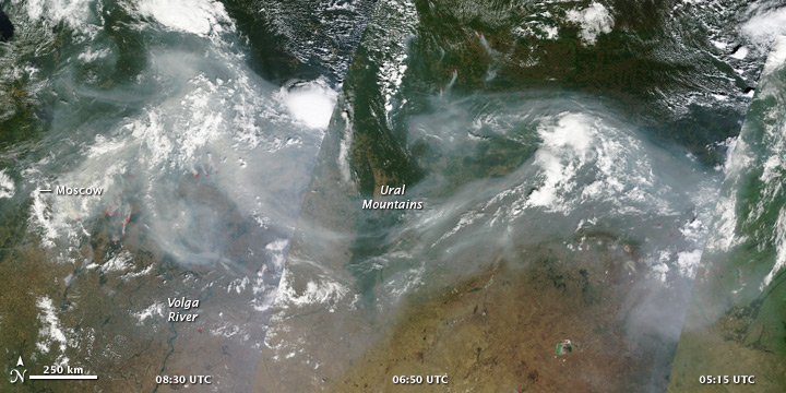 Smoke over Western Russia