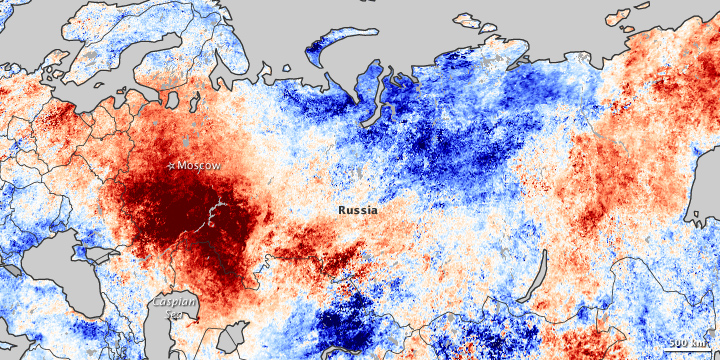 Heatwave in Russia