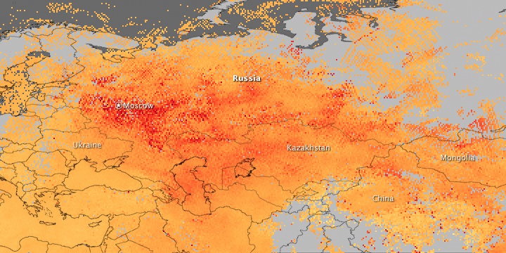 Carbon Monoxide over Western Russia