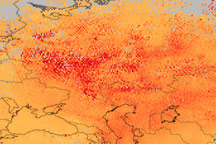 Carbon Monoxide over Western Russia - selected image