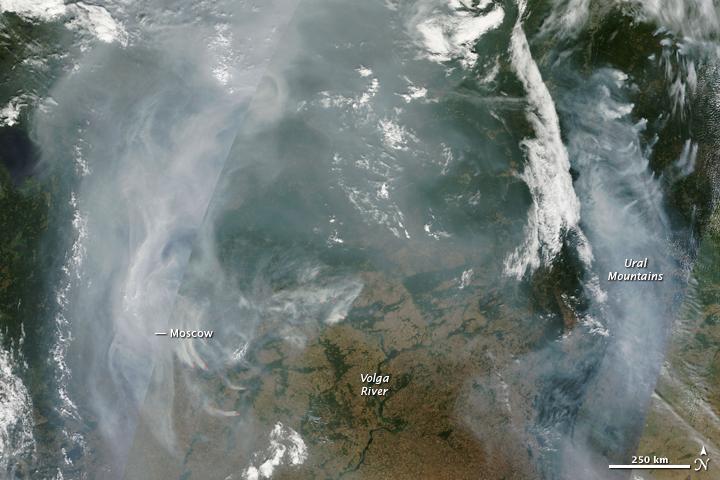 Smoke over Western Russia