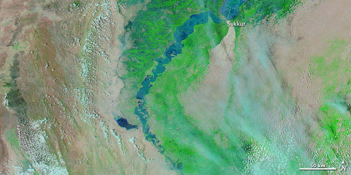 Flooding along the Lower Indus River