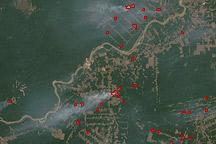 Fires near Porto Velho, Brazil