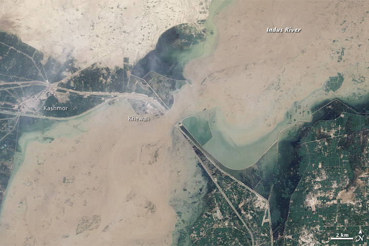 Flooding near Kashmor, Pakistan