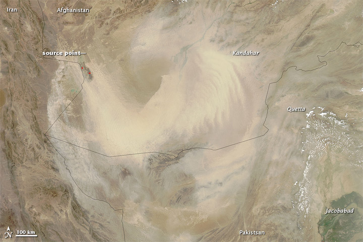 Dust Storm in Afghanistan and Pakistan