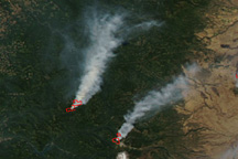 Fires in Oregon