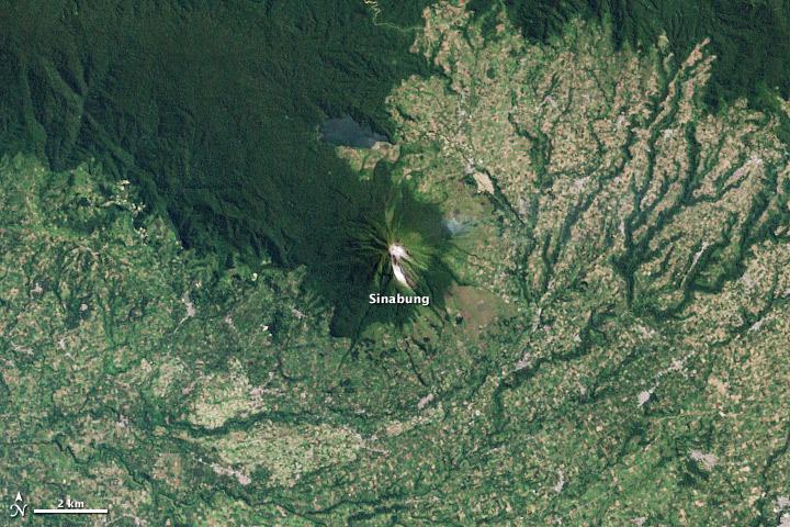 Sinabung Volcano Pre-Eruption