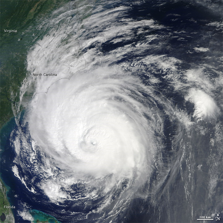 Hurricane Earl along the North Carolina Coast