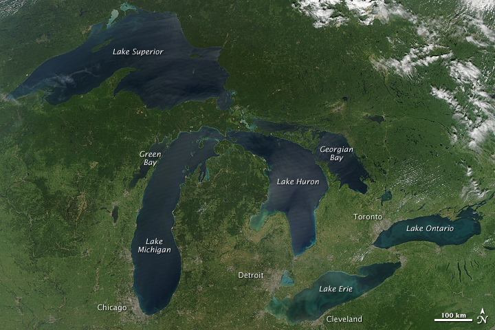 Great Lakes, No Clouds