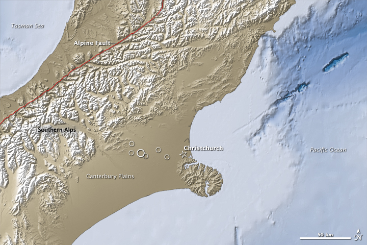 7.0 Quake near Christchurch, New Zealand