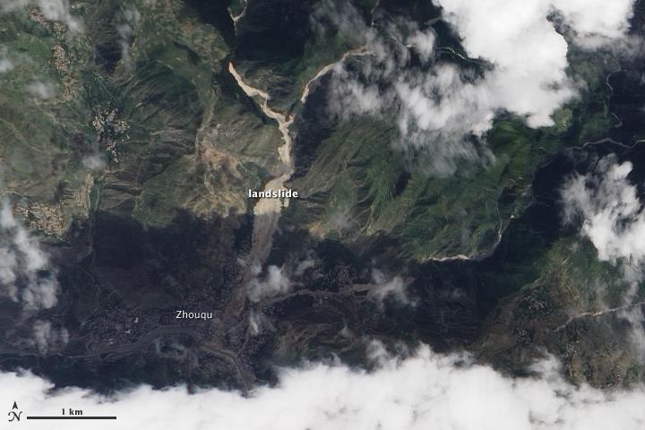Landslide in Zhouqu, China