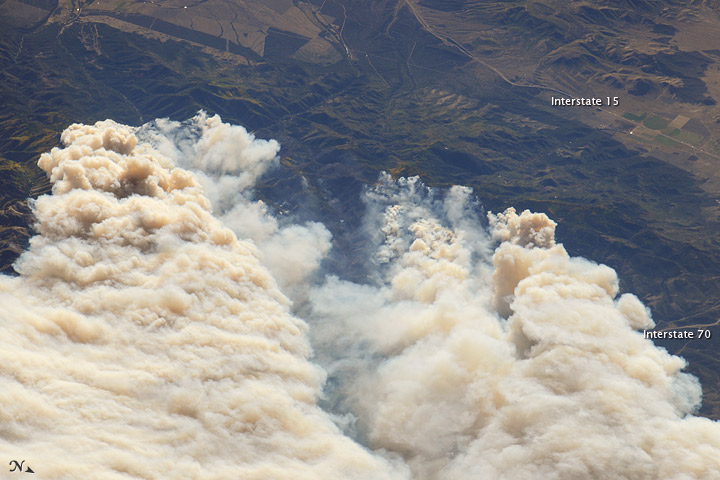 Twitchell Canyon Fire, Central Utah