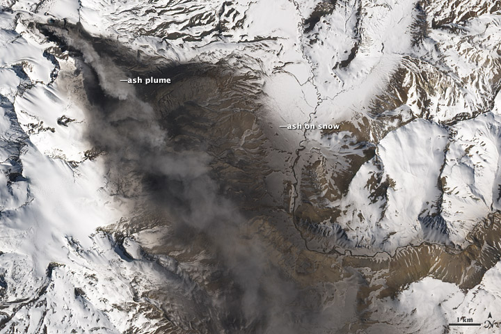 Ash Plume from Planchón-Peteroa Volcano