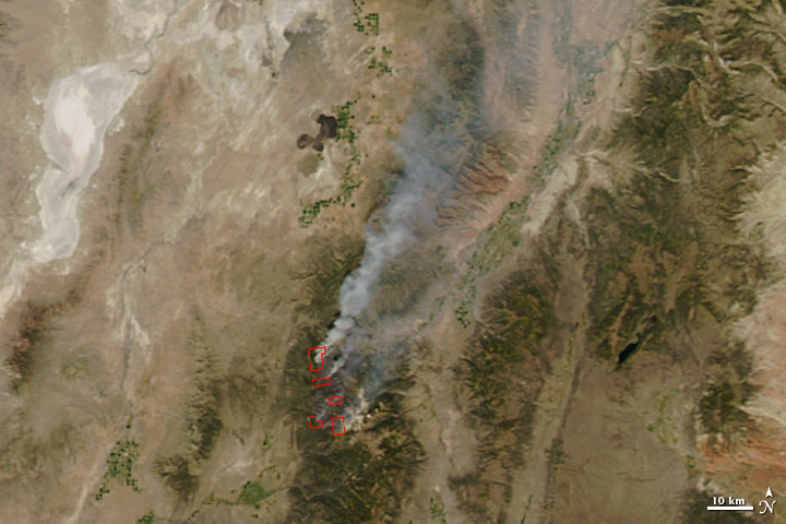 Twitchell Canyon Fire, Utah