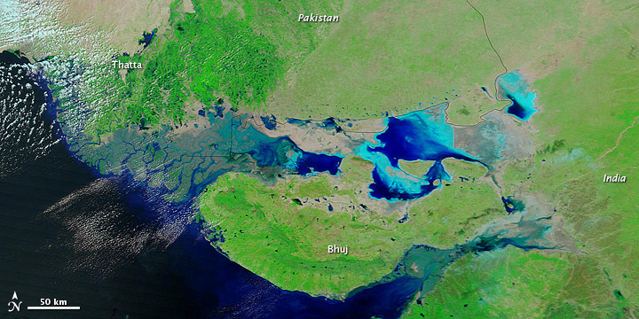 High Waters along the Pakistan-India Border