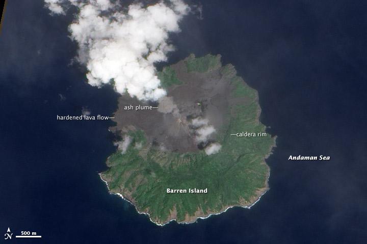 Barren Island Ash Plume