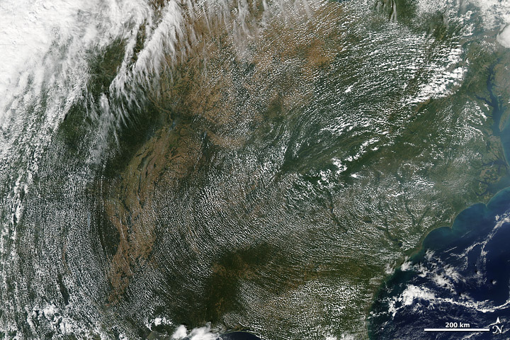 High Pressure Cloud Patterns, Eastern U.S.