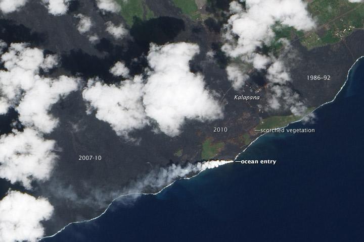 Kilauea Lava Enters the Ocean