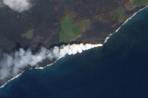 Kilauea Lava Enters the Ocean