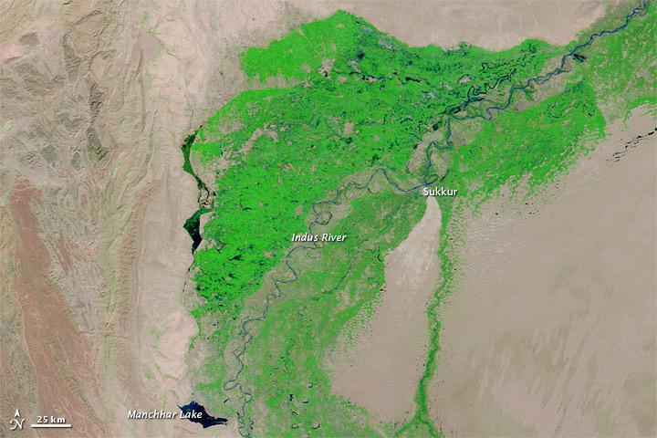 Flood Lake Lingers in Pakistan