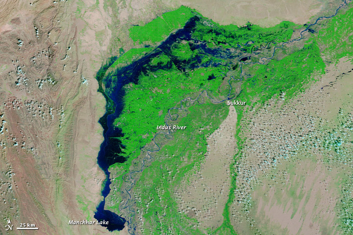 Flood Lake Lingers in Pakistan