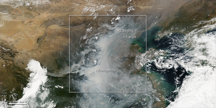 Smog over China