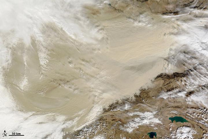Taklimakan Desert Dust Storm