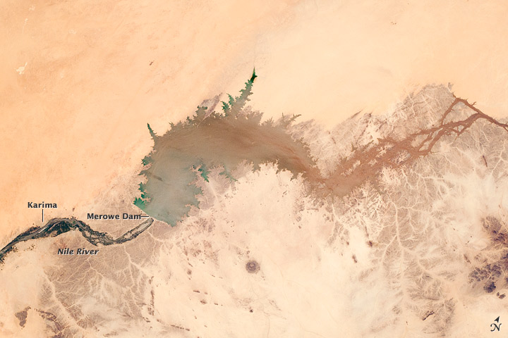 Merowe Dam, Nile River, Republic of the Sudan