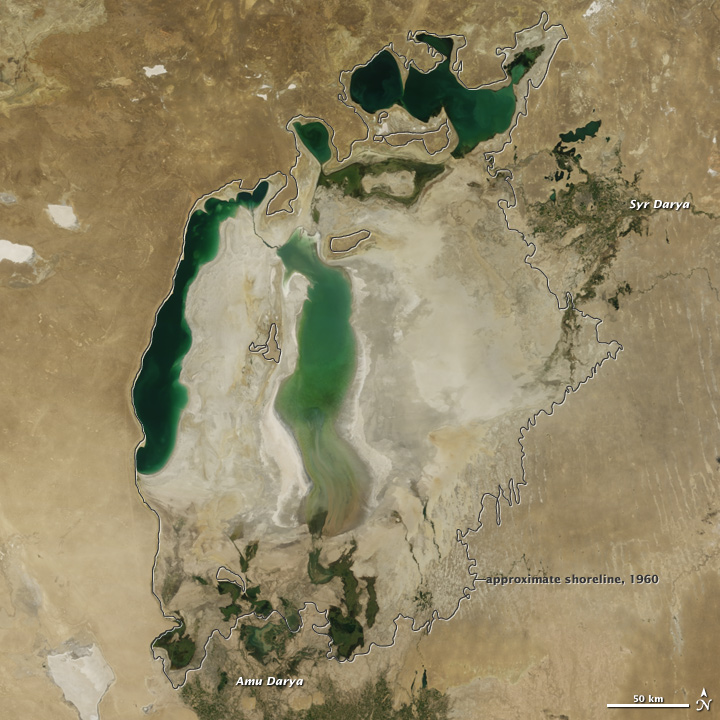 The Shrinking Aral Sea Recovers