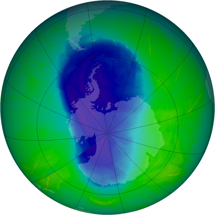 Wandering Ozone Hole in November 2009