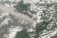 Eruption at Mount Merapi, Indonesia