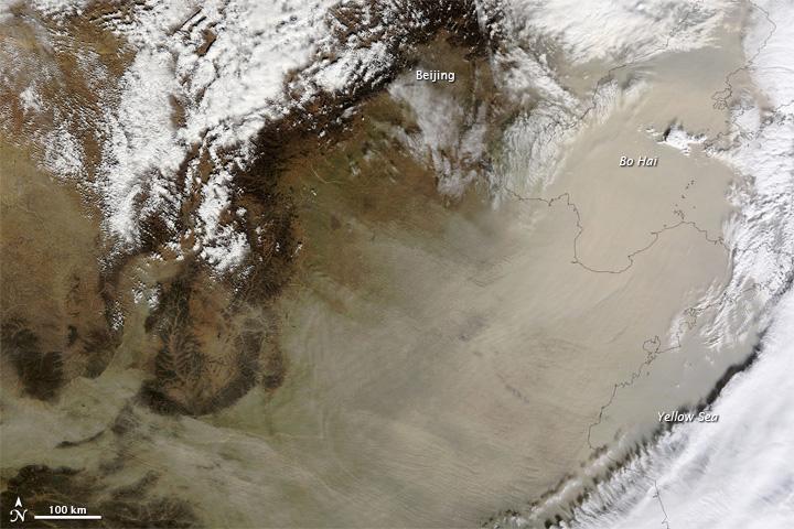 Sandstorm over Eastern China