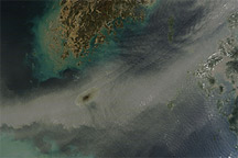 Dust Plume over the Sea of Japan