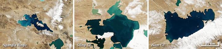 Jewel-Toned Lakes of the Qinghai-Tibet Plateau
